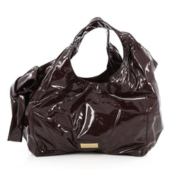 Valentino Nuage Bow Hobo Patent Large