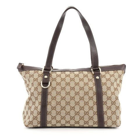 bb5417f75ef3f9 Buy Gucci Abbey Tote GG Canvas Medium Brown 1605102 – Rebag
