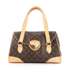 Louis Vuitton Beverly Handbag Monogram Canvas GM brown