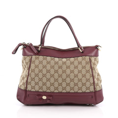 Gucci Mayfair Convertible Tote GG Canvas Small Brown