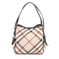 Burberry Canterbury Tote Nova Check Coated Canvas Small
