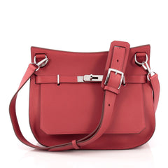 Hermes Jypsiere Handbag Swift 28 Red