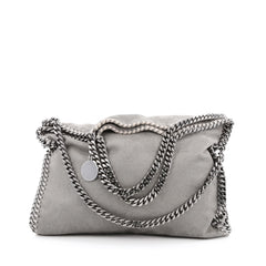 Stella McCartney Falabella Fold Over Bag Shaggy Deer Gray