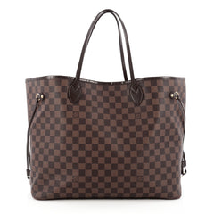 Louis Vuitton Neverfull Tote Damier GM Brown