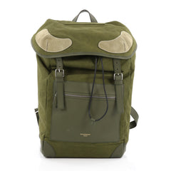 Givenchy Rider Backpack Canvas with Suede green