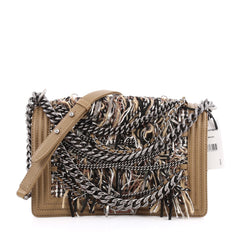 Chanel Paris-Dallas Boy Flap Bag Enchained Fringe with Quilted Calfskin New Medium