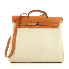 Hermes Herbag Toile and Leather MM neutral