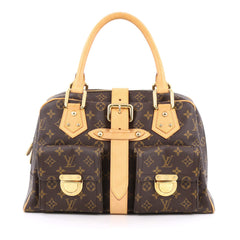 Louis Vuitton Manhattan Handbag Monogram Canvas GM brown