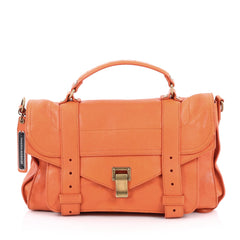 Proenza Schouler PS1 Satchel Leather Medium orange