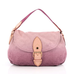 Louis Vuitton Sunray Shoulder Bag Denim pink