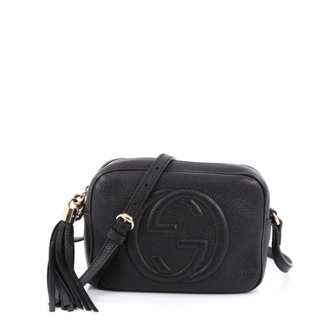 2f418d66720f Buy Gucci Soho Disco Crossbody Leather Small Black 1623001 – Rebag