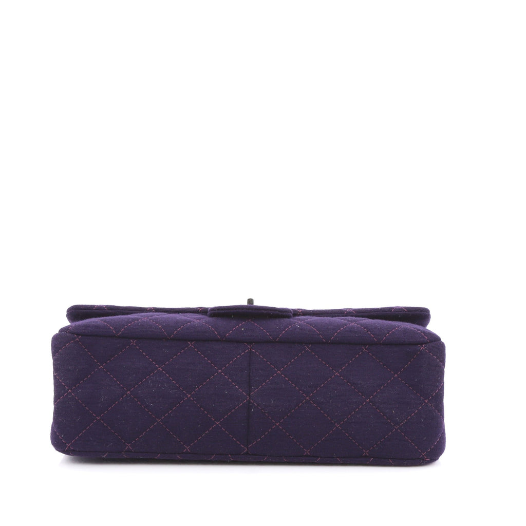 buy chanel reissue handbag quilted jersey 227 purple. Black Bedroom Furniture Sets. Home Design Ideas