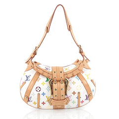 Louis Vuitton Leonor Handbag Monogram Multicolor White