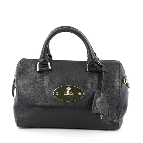2d4b7cbb47a Buy Mulberry Del Rey Bag Leather Small Black 1629701 – Rebag