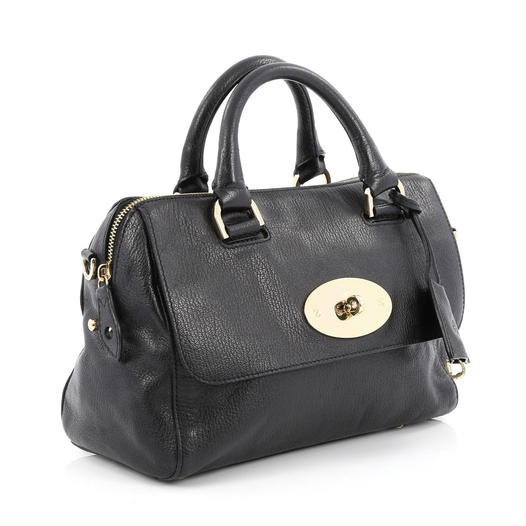 3cb8f8a2b490 Buy Mulberry Del Rey Bag Leather Small Black 1629701 – Rebag