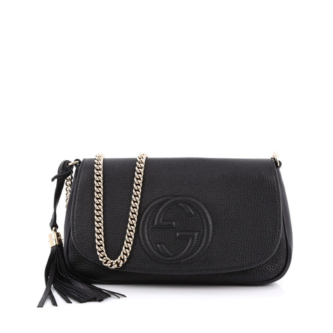 c858e3870 Buy Gucci Soho Chain Strap Crossbody Bag Leather Medium 1629801 – Rebag
