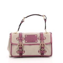 Louis Vuitton Sac Express Trianon Handbag Toile and Ostrich PM Pink