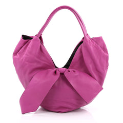 Valentino 360 Bow Hobo Leather Large