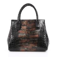 Nancy Gonzalez Convertible Frame Tote Crocodile Small