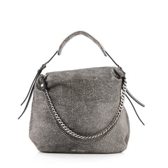 Jimmy Choo Biker Bag Suede Large Gray