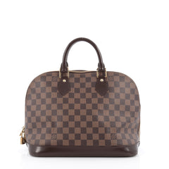 Louis Vuitton Alma Handbag Damier PM brown