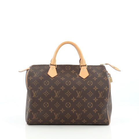 6b2aa47bfad6 Louis Vuitton Speedy Handbag Monogram Canvas 30 We Offer You   375