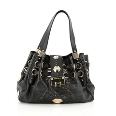 Jimmy Choo Riki Hobo Laser Cut Leather