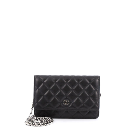 2cb0182d838b87 Buy Chanel Wallet on Chain Quilted Lambskin Black 1644501 – Rebag