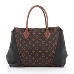 Louis Vuitton W Tote Monogram Canvas and Leather PM Black