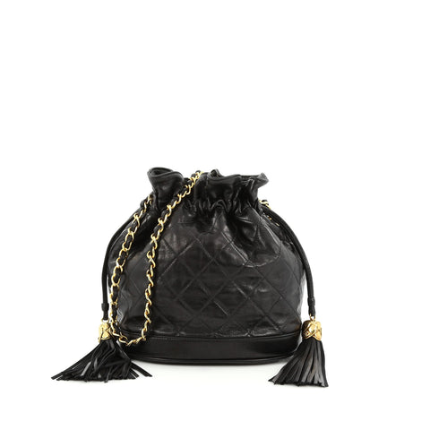 c5bd7aea5d47 Buy Chanel Vintage Drawstring Bucket Bag Quilted Lambskin 1648402 – Rebag