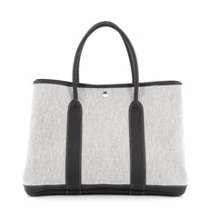 Hermes Garden Party Tote Toile and Leather 36 gray