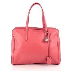 Alexander McQueen Padlock Zip Around Tote Leather Medium Pink