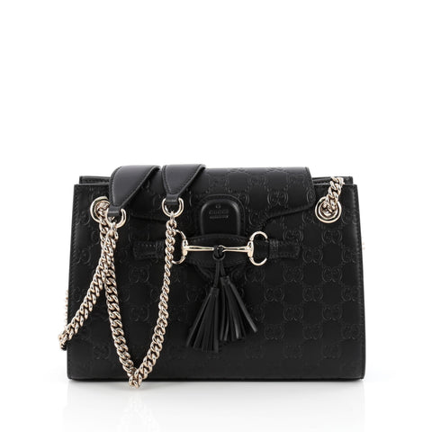e782684180c4 Buy Gucci Emily Chain Flap Shoulder Bag Guccissima Leather 1650802 – Rebag