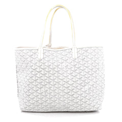 Goyard St. Louis Tote Coated Canvas PM white