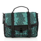 Proenza Schouler PS1 Satchel Woven Fabric Large Green