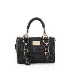 Versace Snap Out Of It Handbag Matelasse Leather Small