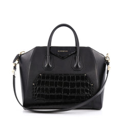 Givenchy Antigona Bag Leather and Crocodile Embossed Medium