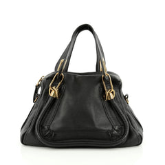 Chloe Paraty Top Handle Bag Leather Small Black