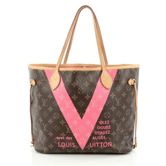 Louis Vuitton Neverfull Tote Limited Edition V Monogram Canvas MM Brown