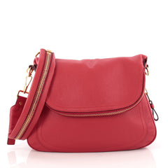Tom Ford Jennifer Shoulder Bag Leather Large Red