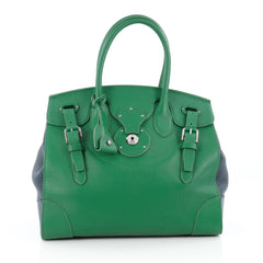 Ralph Lauren Collection Soft Ricky Handbag Leather 33 green