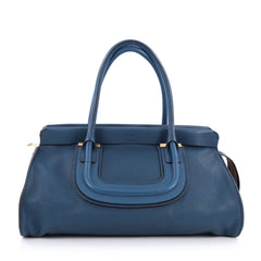 Chloe Everston Satchel Leather Large Blue