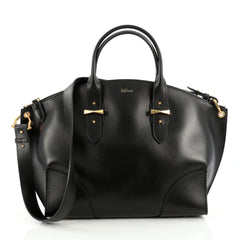 Alexander McQueen Legend Convertible Satchel Leather Large black