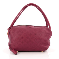 Louis Vuitton Galatea Handbag Mahina Leather PM pink