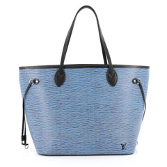 Louis Vuitton Neverfull Tote Epi Leather MM blue