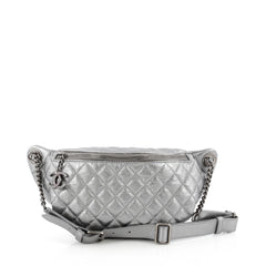 Chanel Banane Waist Bag Quilted Leather