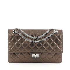 Chanel Reissue 2.55 Handbag Quilted Metallic Calfskin 226 Gold