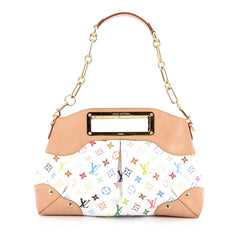 Louis Vuitton Judy Handbag Monogram Multicolor MM White