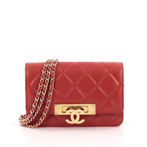 c33ff1bec931 Buy Chanel Golden Class Wallet on Chain Quilted Lambskin Red 1693701 – Rebag