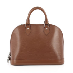 Louis Vuitton Alma Handbag Epi Leather PM Brown